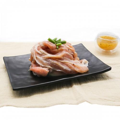 Smoky Leek Pork Shabu Slices
