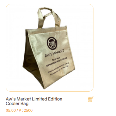 Product which is Aw's Market Reward Item